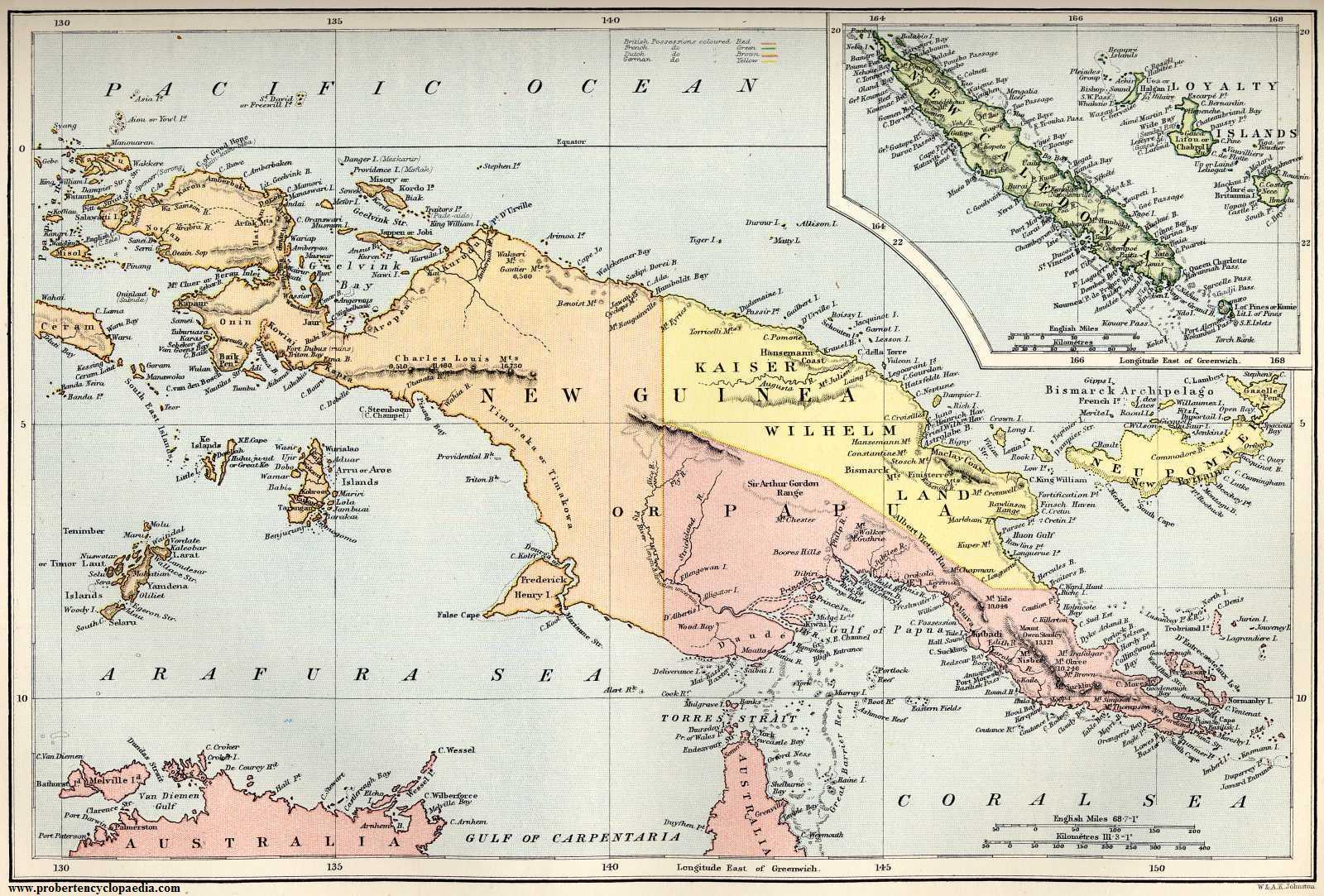 New Guinea Paige West - Papua new guinea map